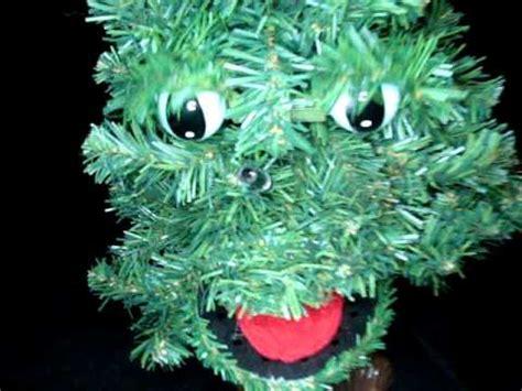douglas fir  talking christmas tree animated sing gemmy  vintage youtube