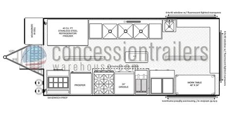 concession stand floor plans concession stand building plans catering trailer plans