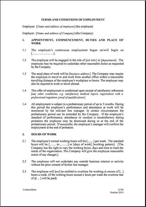 employment agreement general template sample form biztree com