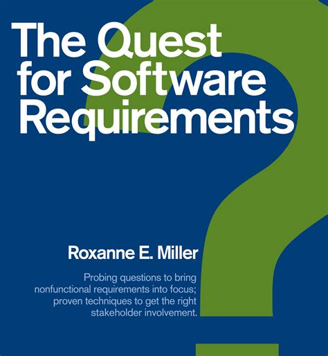 software requirement the quest for software requirements pdf requirements quest