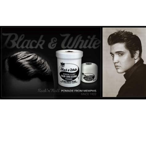 Black Pomade black white genuine pluko hair dressing pomade 7oz