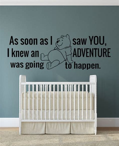Tokomonster Winnie The Pooh 8 Quote Wall Decal Sticker Size 23 winnie the pooh quote wall decal nursery room as soon as i