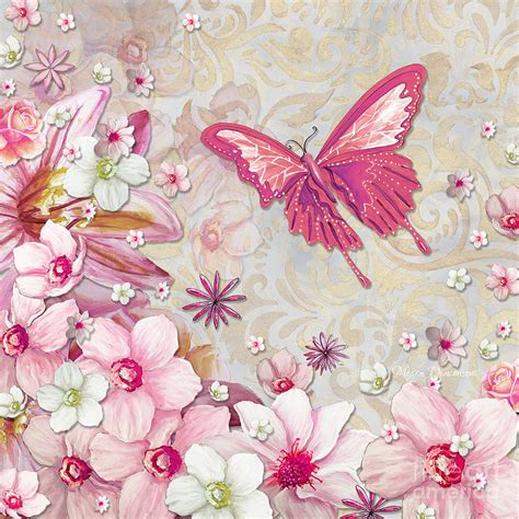 Sophisticated Pink Paint Colors Sophisticated Elegant Whimsical Pink Butterfly Floral