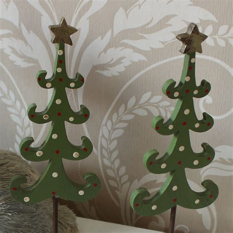 two wooden christmas trees melody maison 174