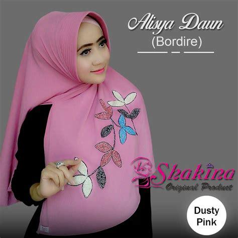 Benang Bordir Warna Pink Kode 1227 jilbab model terbaru 2017 jilbab instan alisya daun bordir bundaku net