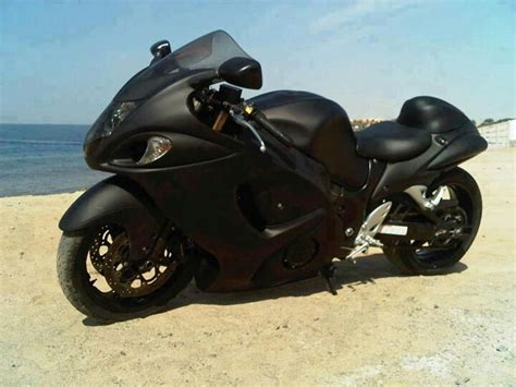stealth black suzuki hayabusa hmmmmm truck and bike flat black something to think about