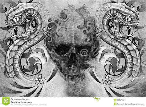 Venum Samourai Shirt Grey cr 225 neo y serpientes dise 241 o tatuaje stock de