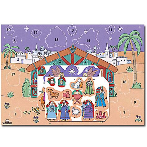 free printable nativity advent calendar advent bookmark template calendar template 2016