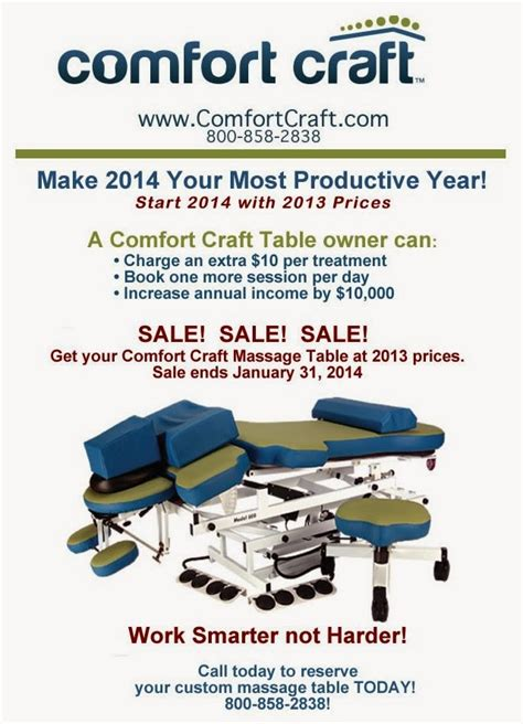 comfort craft massage table take a ride with comfort craft