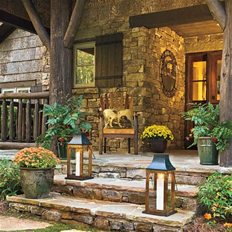 Rustic Front Porch Decorating Ideas by Still Woods Farmhouse November 2013
