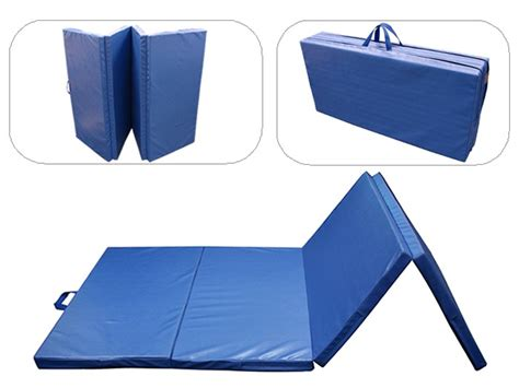 Gymnastics Mats For Sale Ebay 4x8x2 gymnastics folding exercise mats blue