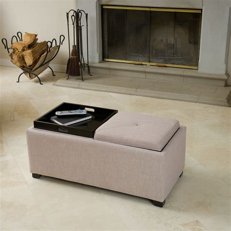 ottoman with 4 tray tops storage ottoman with tray living room contemporary with 2