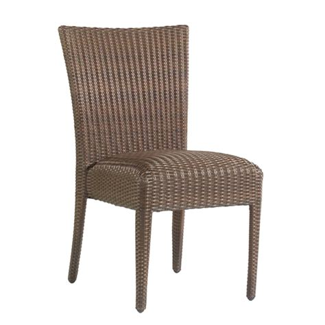 All Weather Wicker Dining Chairs Woodard All Weather Padded Wicker Dining Side Chair S593811