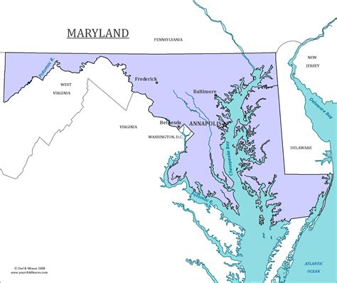 maryland map with capital maryland state map map of maryland and information about