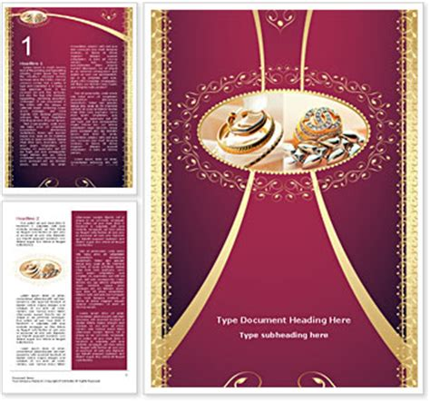 jewelry templates jewelry word template design id 0000001362