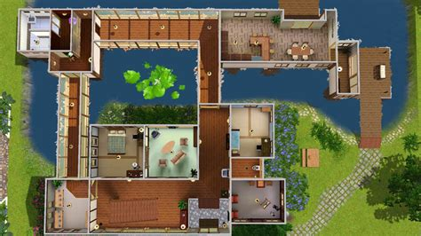 Free Floor Plan Download by Mod The Sims Akane House Japanese Quot Inaka Quot House