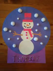 Craft snowgirl craft winter craft preschool craft christmas