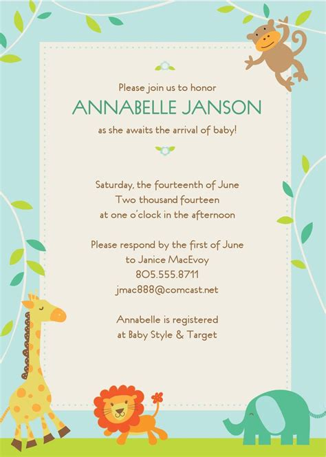 giraffe baby shower invitations template printable giraffe baby shower invitations thank you card