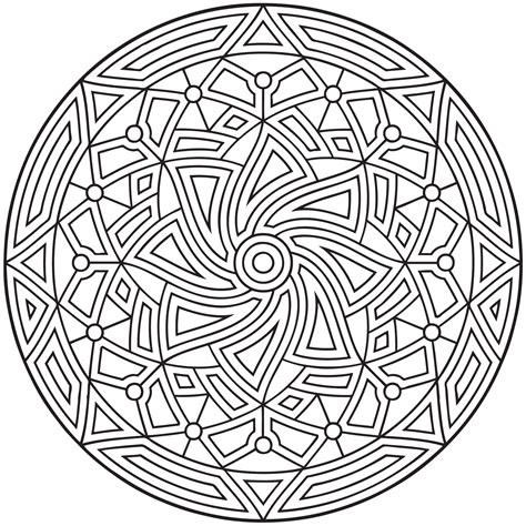 printable coloring pages designs free printable geometric coloring pages for