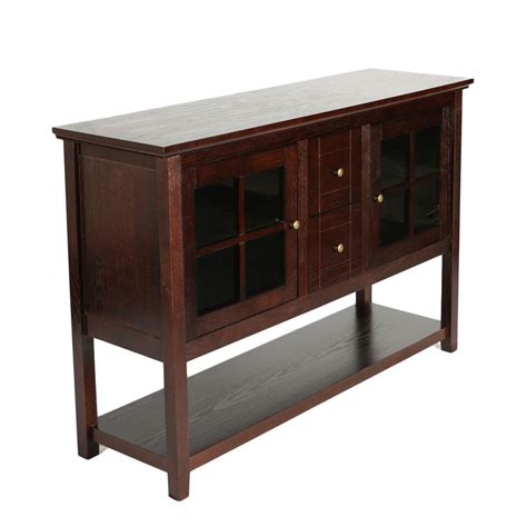 Tv Console Table 52 Quot Wood Console Table Tv Stand Espresso