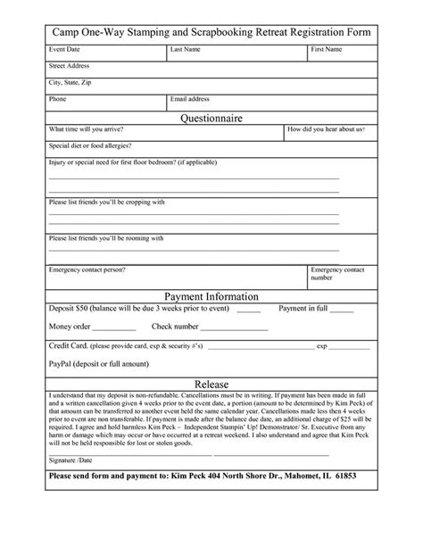 printable registration form template bunch ideas of vbs conference