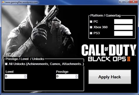 tutorial hack black ops 2 online call of duty black ops 2 prestige hacking tool gamingfiles