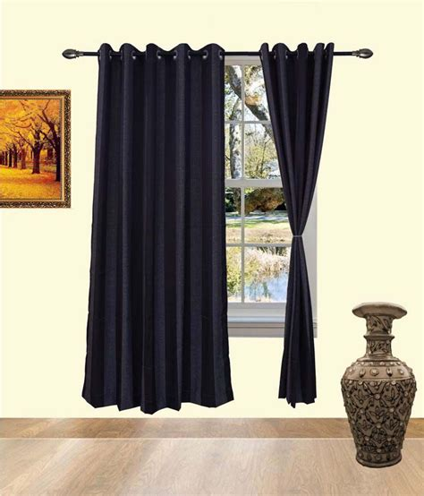 pvc curtains india deco india black cotton pvc curtains black buy deco