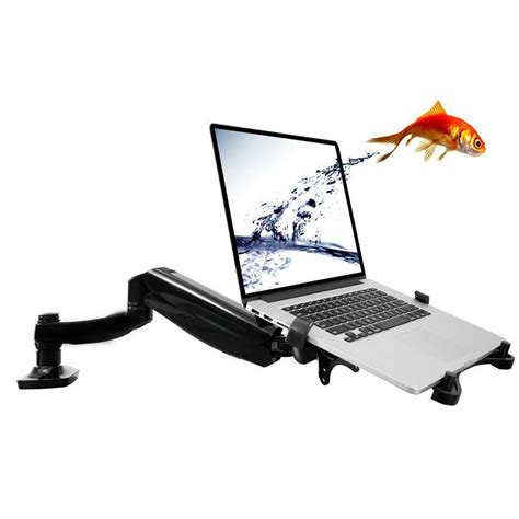 Fleximounts 2 In 1 Full Motion Swivel Monitor Arm Desk Laptop Mounts For Desk