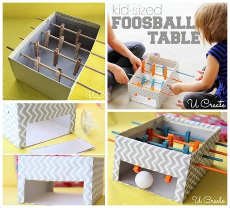 How To Make A Table Football by Make This Mini Football Table For Your