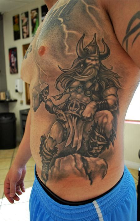 thor tattoo by george muecke tattoos