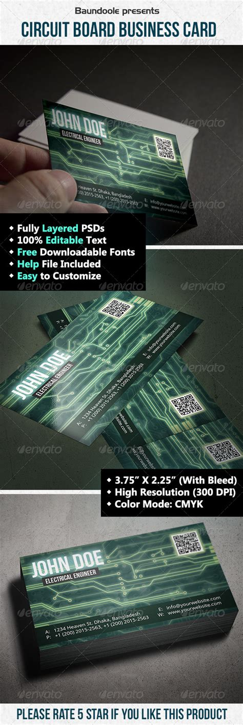 circuit board business card template circuit board business card by taeef graphicriver