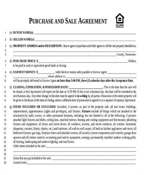 home sale contract template 6 sle home sales contracts sle templates