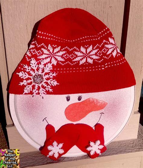 snowman pizza pan door hang   winter