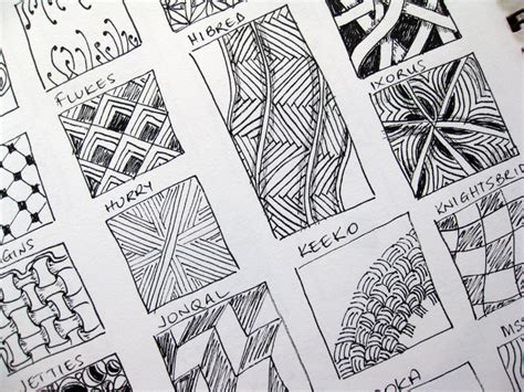 pattern drawing pictures zentangles mississhippi s madness