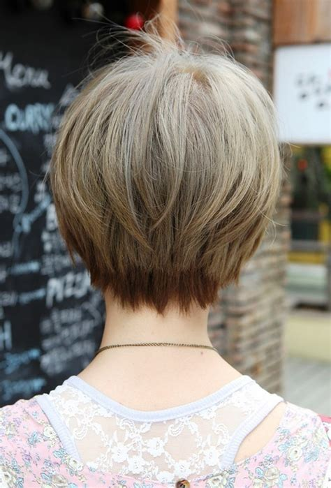 photos of the back of a haircut with a w neckline long bob haircuts back view