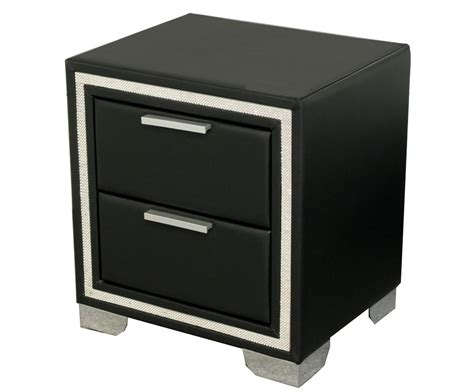 Faux Leather Drawers by Marissa Black Faux Leather 2 Drawer Bedside Chest