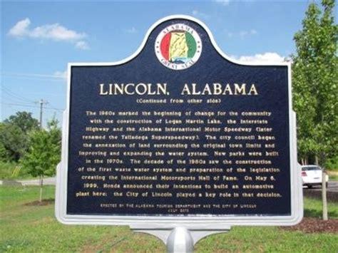 lincoln alabama historical marker