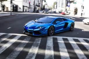 Blue Chrome Lamborghini Aventador Lamborghini Gallardo 2016 Wallpaper