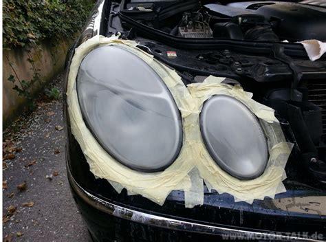 Auto Scheinwerfer Polieren Youtube by 4 400er Scheinwerfer Polieren Mercedes E Klasse W211