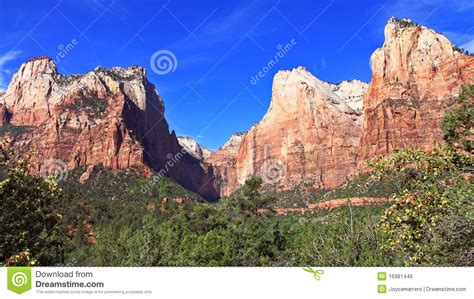 Garden Ridge Mt Zion Mount Zion National Park Royalty Free Stock Image Image