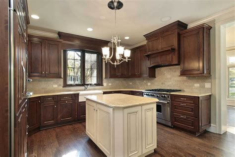 white kitchen cabinets with dark island brown kitchen cabinets modification for a stunning kitchen