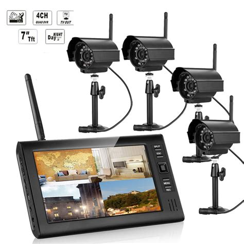 aliexpress buy new 7 inch monitor wireless cctv kit