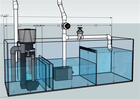 Saltwater Aquarium Plumbing Design by How To Plumb A Sump 3reef Aquarium Forums