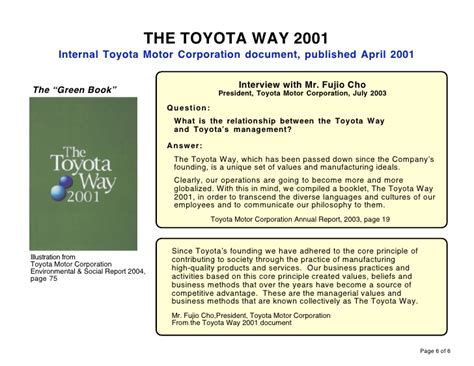 The Toyota Way The Five Principles Of The Toyota Way