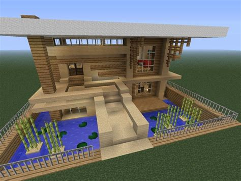 Things To Consider When Building A House Modern Minecraft House Looks Cool But Difficult To Build Minecraft Ideas Pinterest
