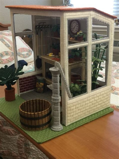 plastic canvas doll house 16 best fashion doll potting shed images on pinterest