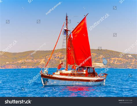 hydra sport boats official website old classic wooden greek boat kaiki stock photo 181811030
