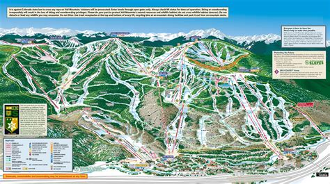 vail map vail trail maps adaptive spirit