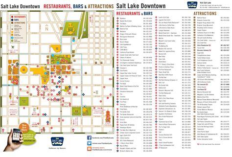 salt lake city usa map salt lake city tourist attractions map