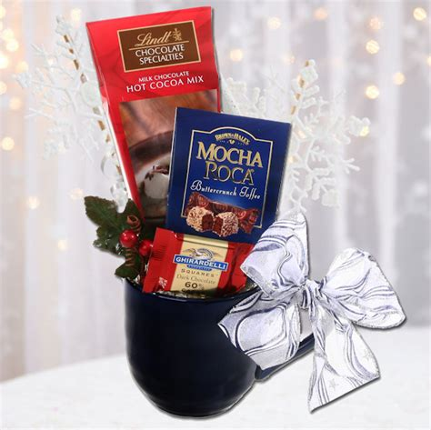 lindt chocolate holiday gift mug aagiftsandbaskets com